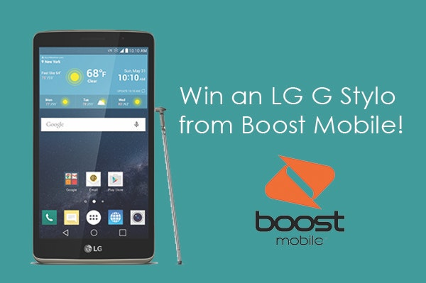 LG G Stylo from Boost Mobile sweepstakes
