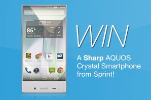 Sharp AQUOS Crystal from Sprint sweepstakes