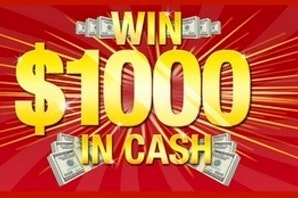 $1000 in Free Cash June sweepstakes