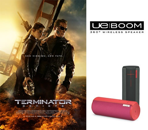 UE BOOM with Terminator: Genisys sweepstakes