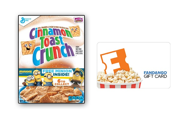 Fandango and General Mills Minions Cereal sweepstakes