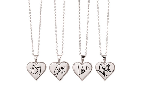 One direction necklaces small