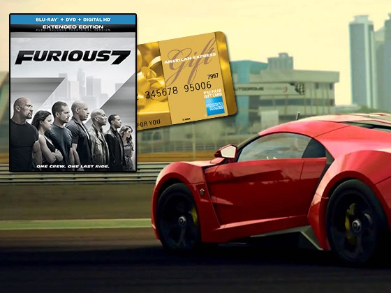 FURIOUS 7 on Blu-ray Combo Pack plus a 500 Gift Card sweepstakes