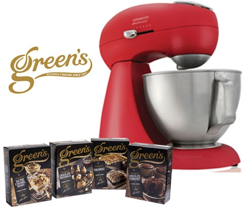 Win a Kenwood food mixer & Green's ready-to-make desserts sweepstakes