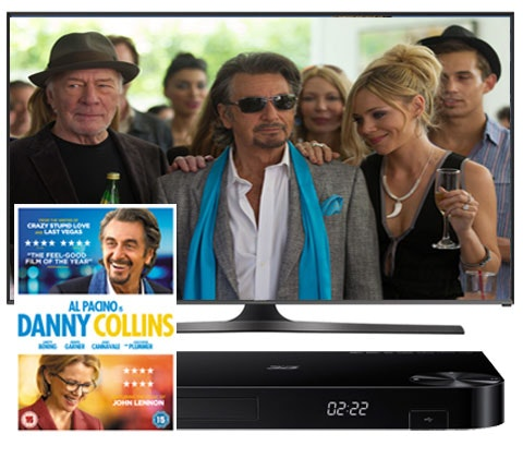 Win Danny Collins DVD, Samsung TV & DVD/Blu-ray player sweepstakes