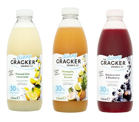 WIN THE CRACKER DRINKS CO.'s new Skinny range for a month!! sweepstakes