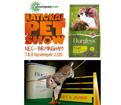 Win a National Pet Show family ticket & Burgess pet food  sweepstakes