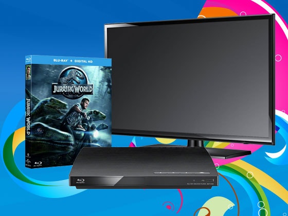 JURASSIC WORLD, TV and Blu-ray Player sweepstakes