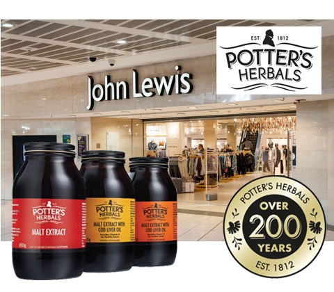 Win 2 x £200 John Lewis vouchers & Potter's Herbals sweepstakes