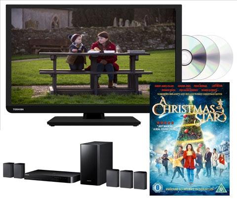 Win a Toshiba TV and A Christmas Star on DVD sweepstakes