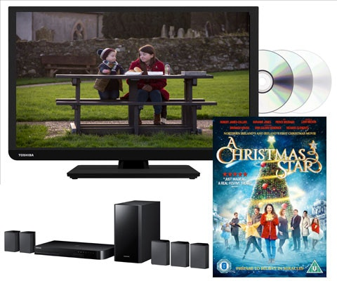 Win a Toshiba TV and A Christmas Star on DVD sweepstakes