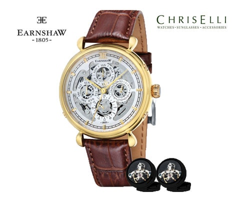 Thomas Earnshaw watch and cuff links sweepstakes