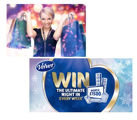 Win £400 in Love2Shop vouchers with Velvet facial tissues sweepstakes