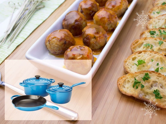 Johnsonville supplies and Le Creuset cookware set sweepstakes