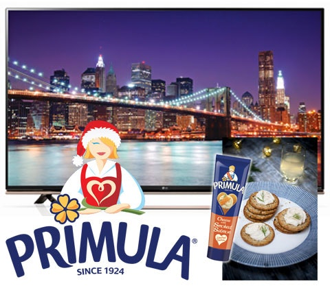 Win 50in LG LED TV & Primula squeezy cheese sweepstakes
