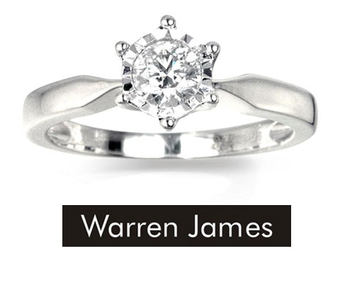 Win a Warren James diamond solitaire ring sweepstakes