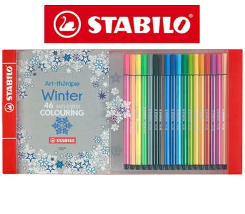 Win 10 x Art Thérapie Winter Colouring Sets with STABILO sweepstakes