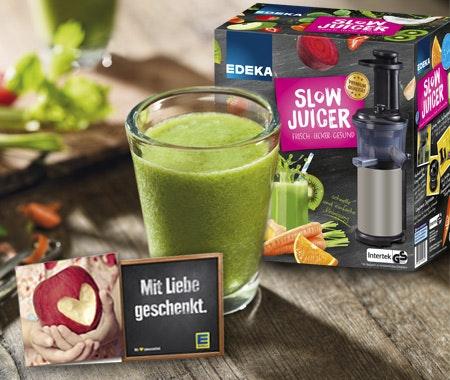 Edeka Slow Juicer Entsafter : vitamin-Booster von EDEKA zu gewinnen - Intouch Wunderweib
