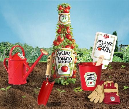 HEINZ Gartensets zu gewinnen! Gewinnspiel