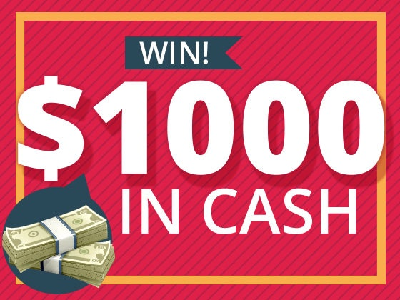 $1000 Cash Prize - February 2016 sweepstakes