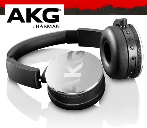 AKG Y50BTs Headphones in silver sweepstakes