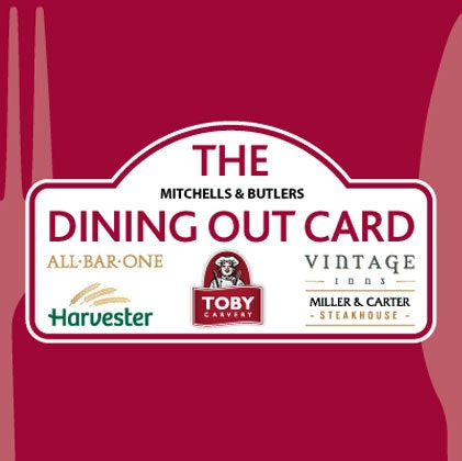 £100 Dining Out Card sweepstakes