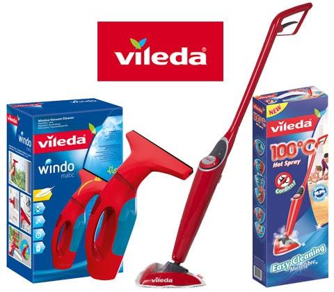 Win 4 x Vileda Hot Spray Mop & window cleaner sweepstakes