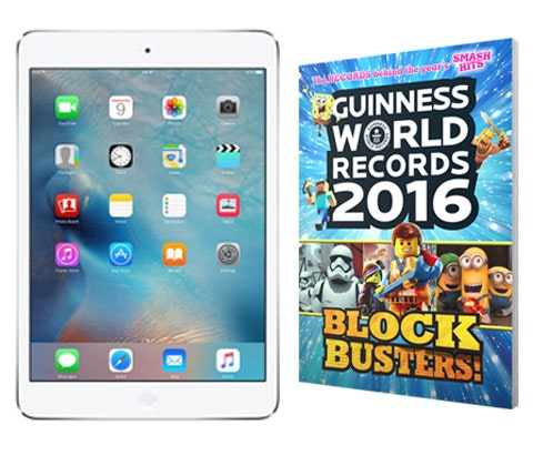 Win an Apple iPad mini 2 & Guinness World Records 2016 sweepstakes