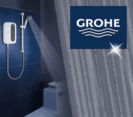 win 2 x grohe tempesta 100 electric showers yours. Black Bedroom Furniture Sets. Home Design Ideas