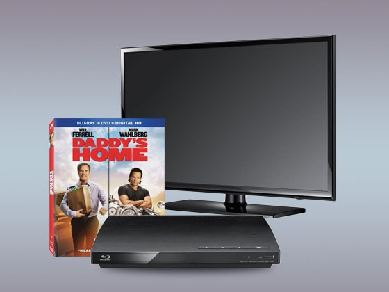 Daddy's Home on Blu-ray Combo Pack, plus a Flatscreen TV and Blu-ray Player sweepstakes
