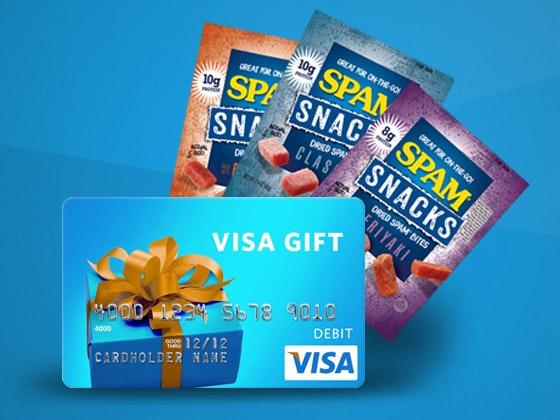 Spam visa giftcard giveaway 1