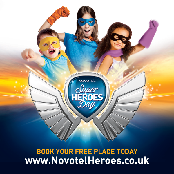 FAMILY STAY AT NOVOTEL FOR NOVOTEL SUPER HEROES DAY! sweepstakes