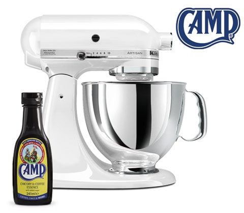 Win a KitchenAid Artisan Mixer & bottle of Camp Coffee sweepstakes
