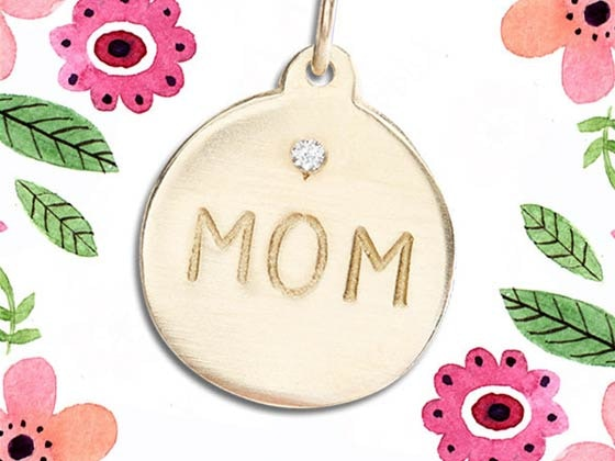 Helen Ficalora Gold MOM Necklace sweepstakes