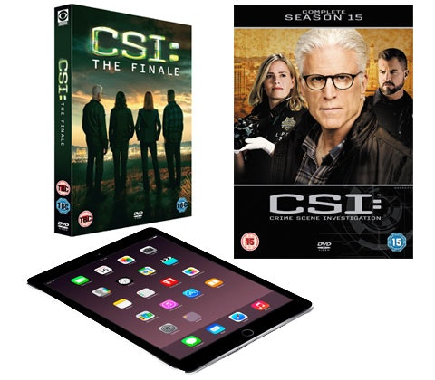 Win an iPad Air 2 & CSI:Crime Scene Investigation DVD sweepstakes