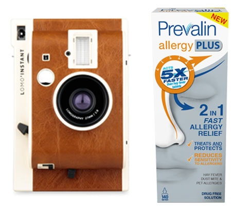 Win 4 x Lomography cameras & Prevalin Allergy Plus sweepstakes
