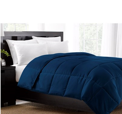 King Size Down Alternative Comforter Navy sweepstakes