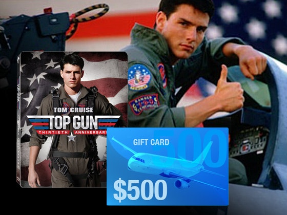 $500 Airline Gift Card and Top Gun Blu-ray sweepstakes