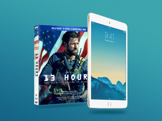 13 HOURS on Digital HD plus an iPad Mini sweepstakes