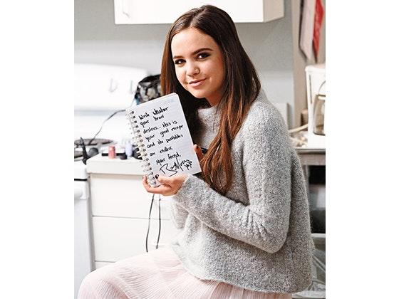 Bailee Madison's notebook sweepstakes