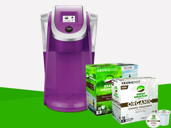 Green Mountain Coffee and a Keurig Coffee Brewing System - 4 winners sweepstakes
