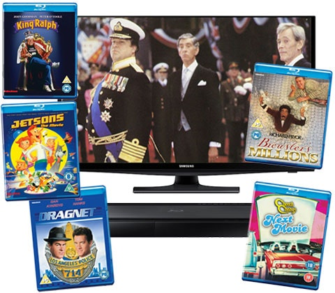 Win a Samsung TV, Blu-ray player & comedy Blu-rays sweepstakes