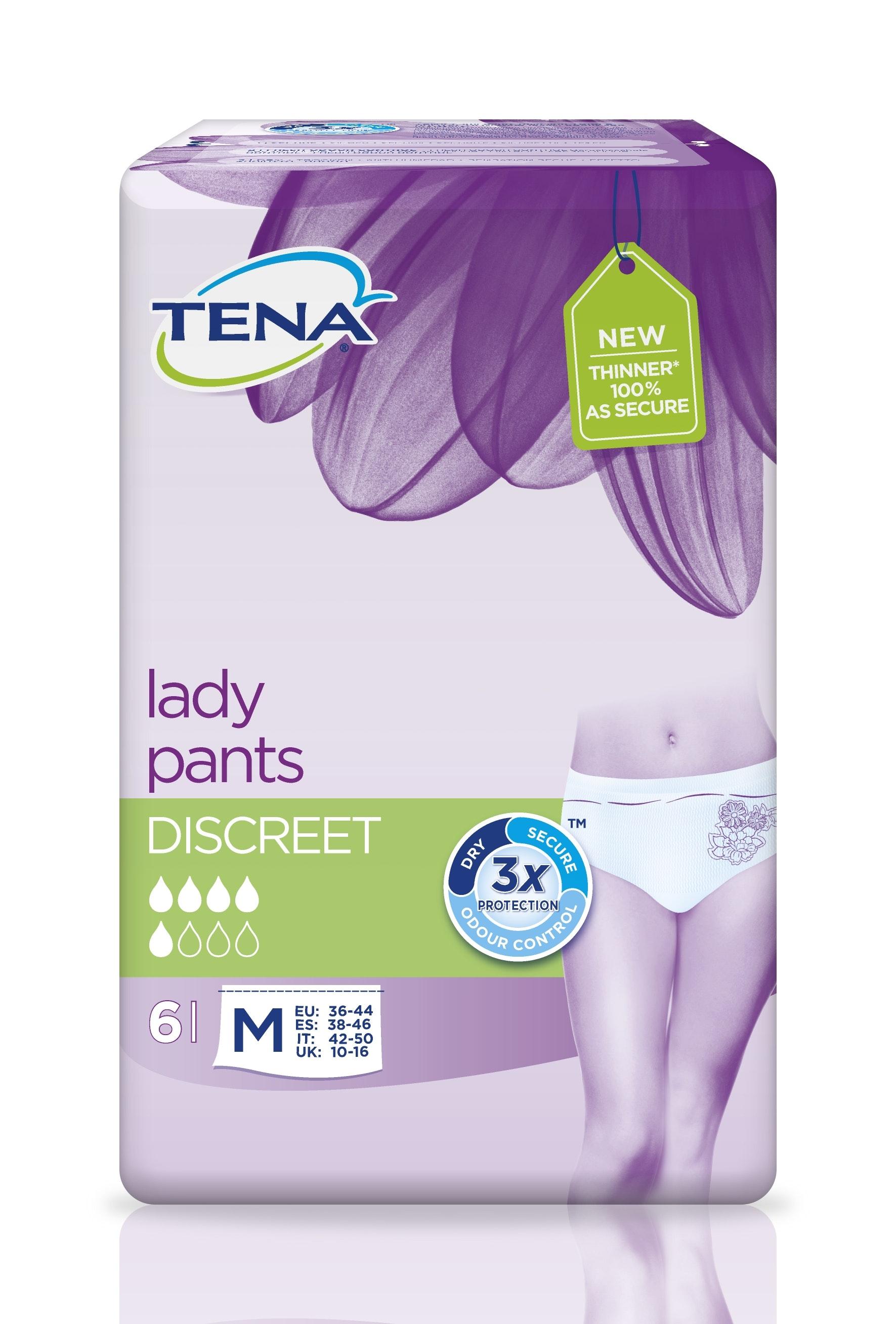 Tena lady pants discreet m 6p int
