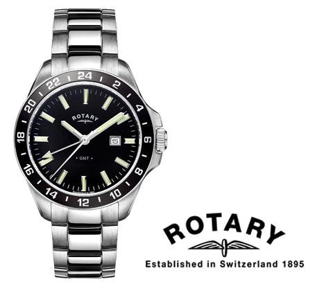 Rotary Men's Havana Stainless steel watch sweepstakes