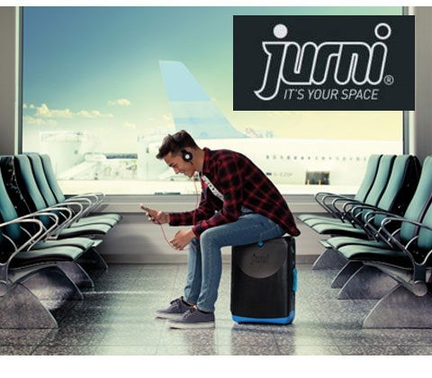 Jurni sit on and carry on suitcase worth £80 sweepstakes