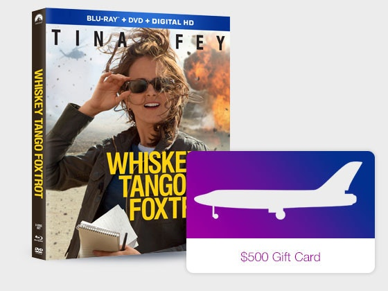 Whiskey Tango Foxtrot and Airline Gift Card Giveaway sweepstakes