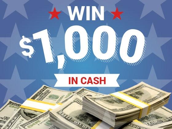 July  1000 cash prize