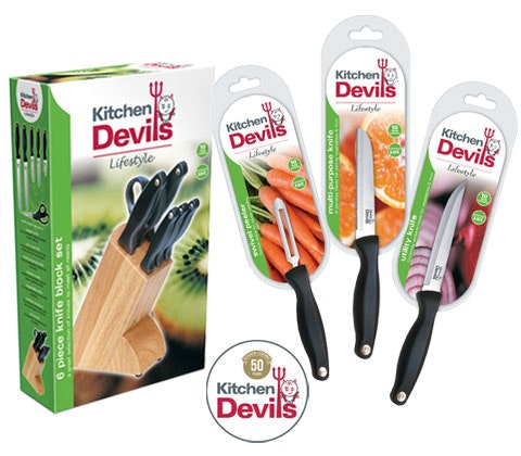 a set of Kitchen Devils kitchenware sweepstakes