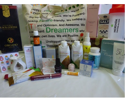 a Pampering goody bag from the Direct Selling Association sweepstakes