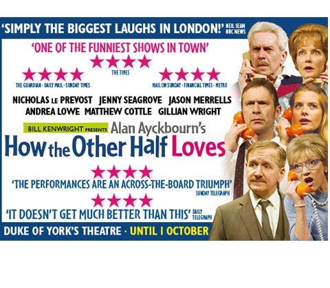 a pair of tickets to see How the Other Half Loves! sweepstakes